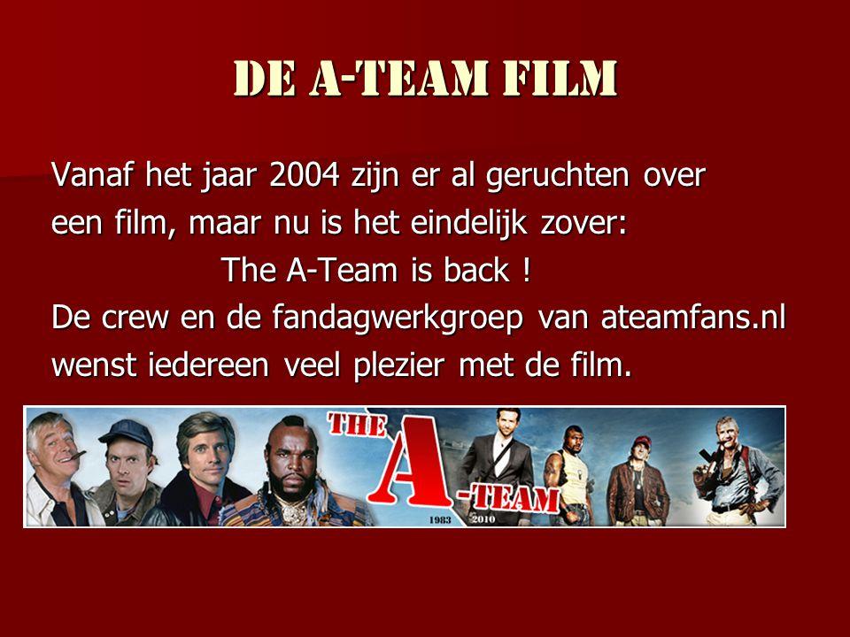 Einde Hartelijk dank voor uw aandacht. Wij hopen u te mogen verwelkomen op www.ateamfans.nl