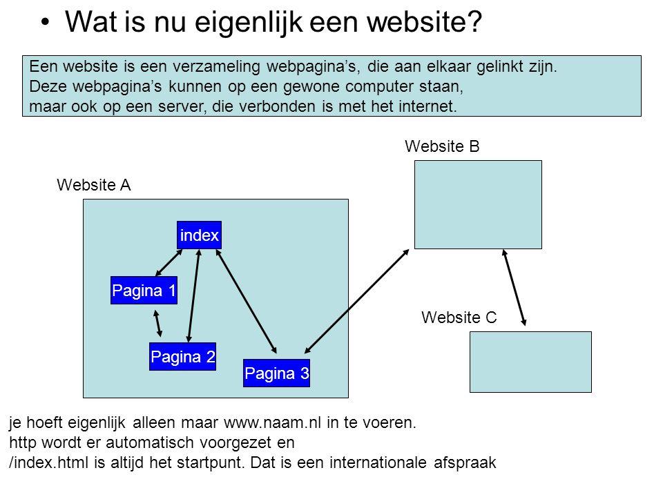 •Wat is nu eigenlijk een website? Een website is een verzameling webpagina's, die aan elkaar gelinkt zijn. Deze webpagina's kunnen op een gewone compu