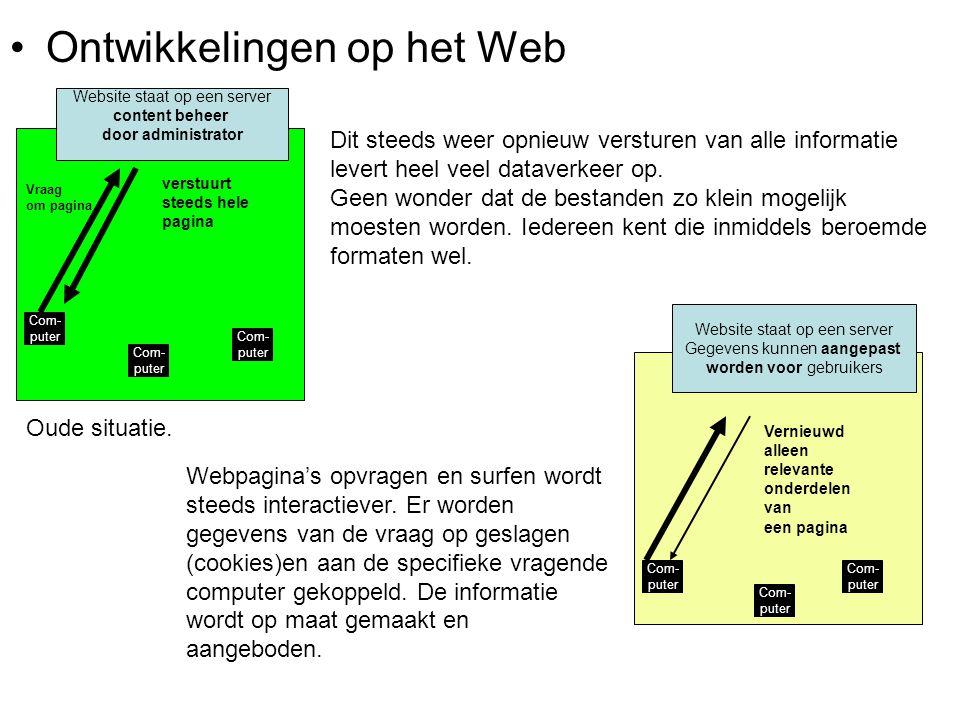 •Web 2.0 Website staat op een server Gegevens kunnen door gebruikers zelf worden aangepast Com- puter Peer to peer Het internet krijgt een 'massa- intelligentie'???: Wikipedia is daar een voorbeeld van.