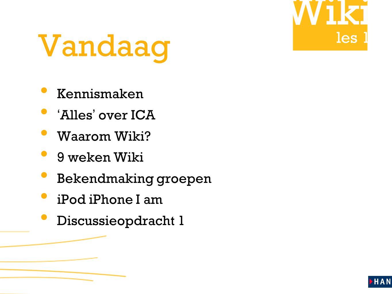 les 1 9 weken Wiki • week 1 - 4: Individueel onderwerpen uitdiepen en oefenen met schrijfvaardigheid.