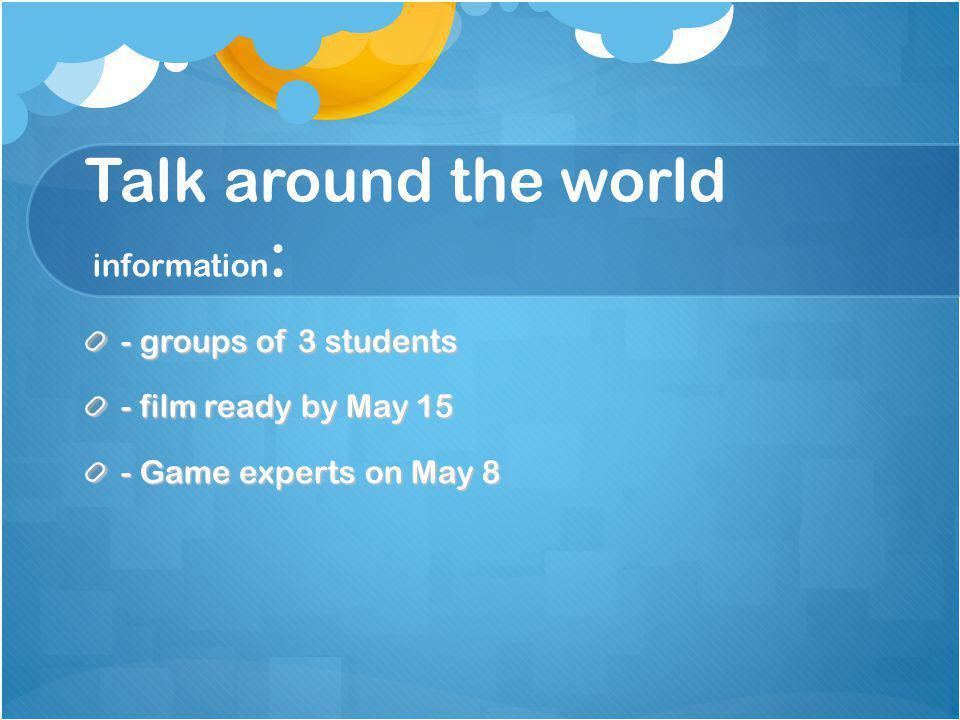 Talk around the world