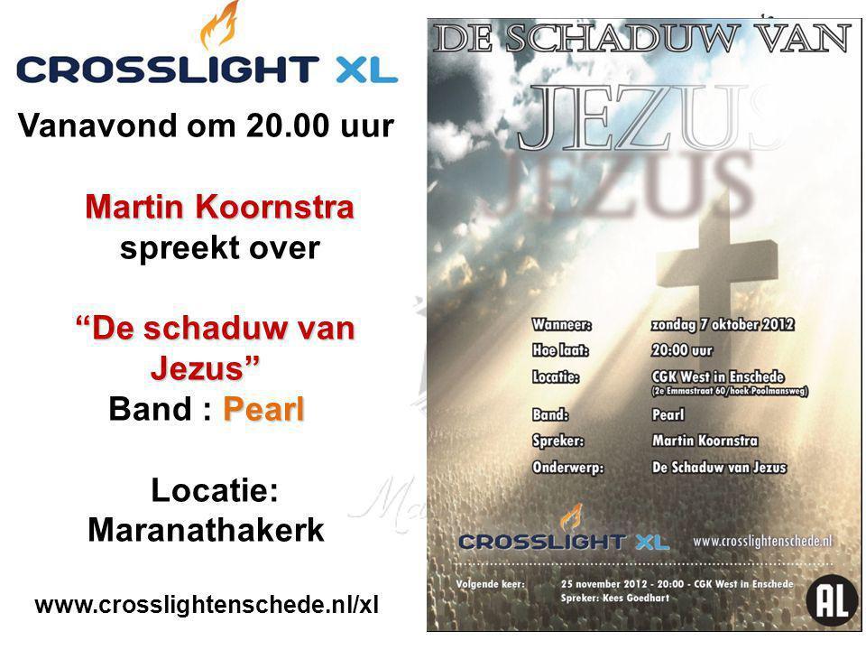 """Martin Koornstra """"De schaduw van Jezus"""" Pearl Vanavond om 20.00 uur Martin Koornstra spreekt over """"De schaduw van Jezus"""" Band : Pearl Locatie: Maranat"""