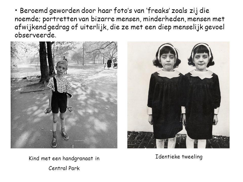 • Beroemd geworden door haar foto's van 'freaks' zoals zij die noemde; portretten van bizarre mensen, minderheden, mensen met afwijkend gedrag of uite