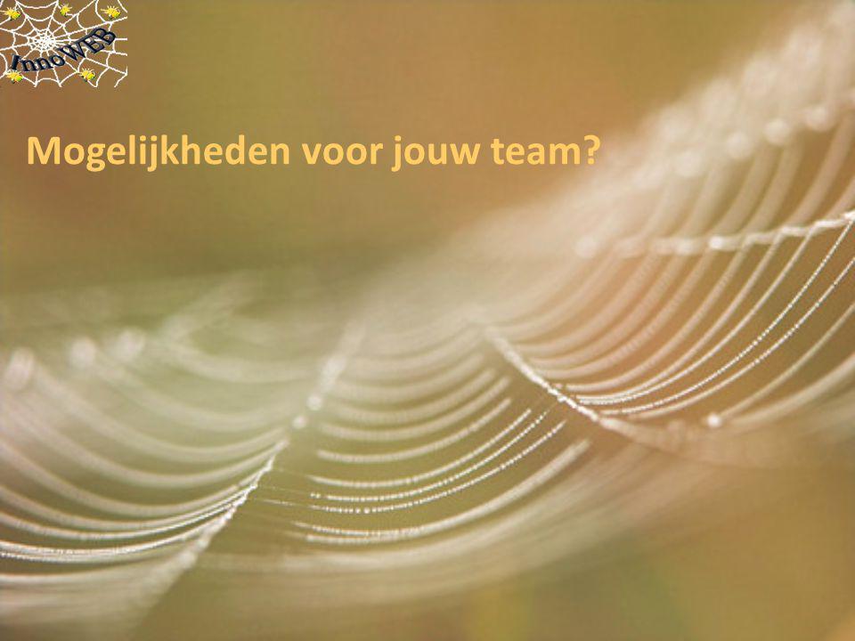 Mogelijkheden voor jouw team?
