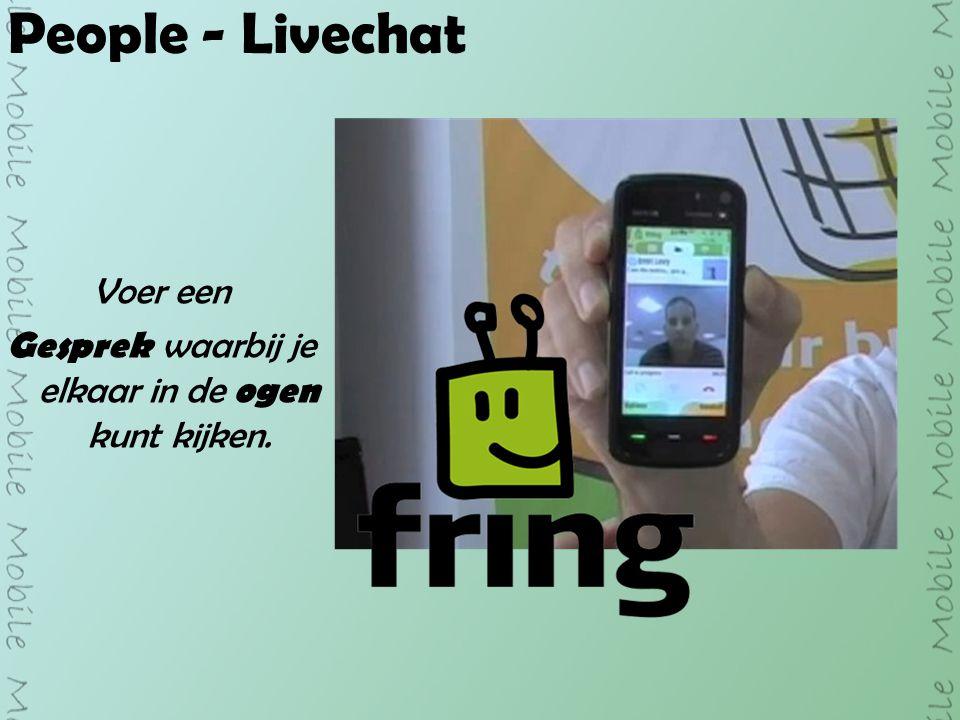 People - Livechat Voer een Gesprek waarbij je elkaar in de ogen kunt kijken.