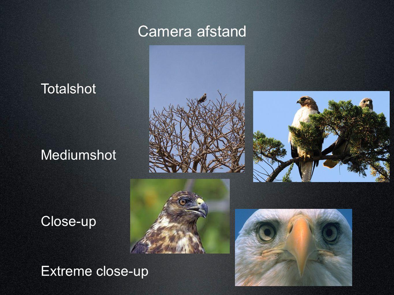 Camera afstand Totalshot Mediumshot Close-up Extreme close-up