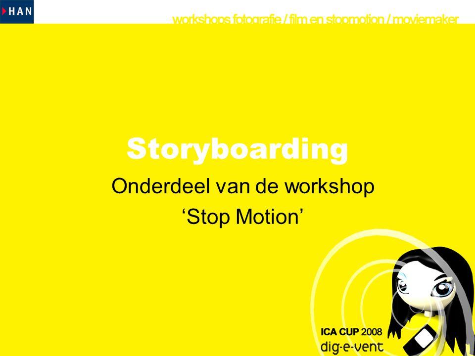 Inhoud •Wat is een storyboard •Waarom een storyboard •Voorbeelden van storyboards •Oefenopdracht