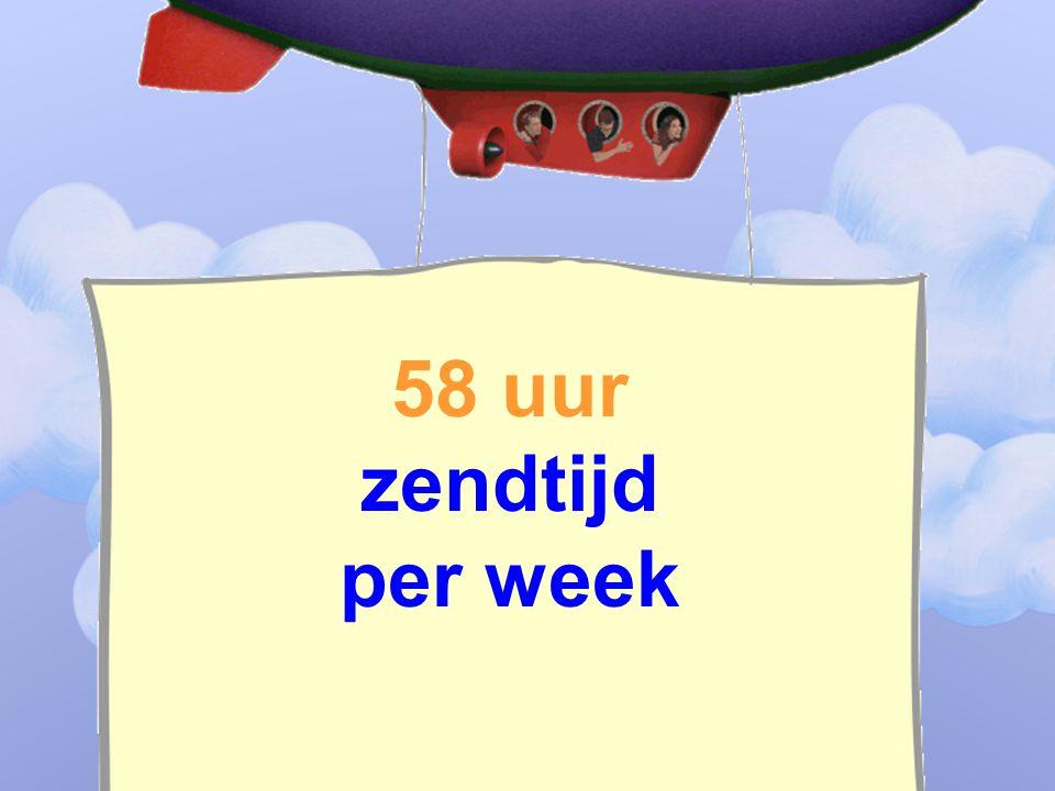58 uur zendtijd per week