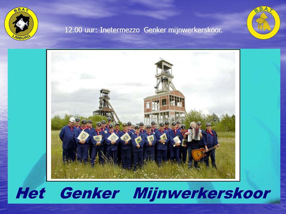 12.00 uur: Inetermezzo Genker mijnwerkerskoor.