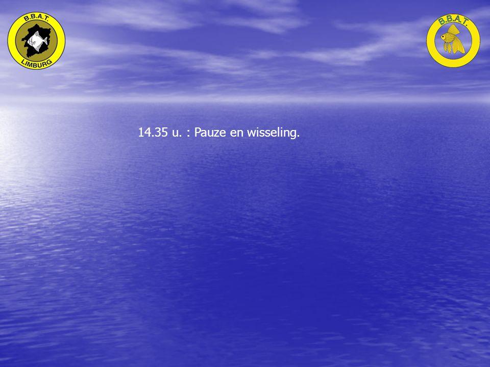14.35 u. : Pauze en wisseling.
