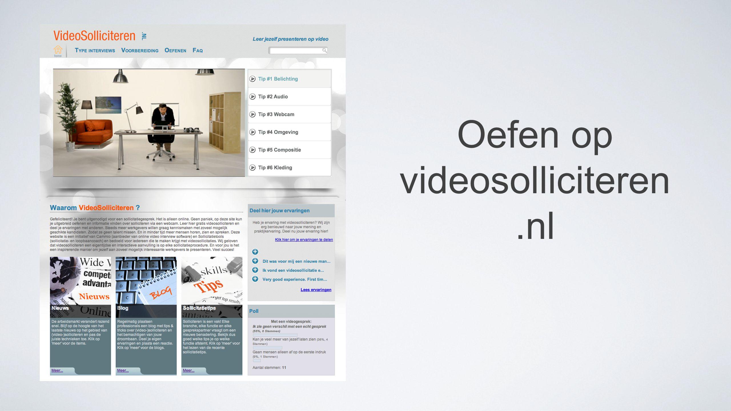 Oefen op videosolliciteren.nl
