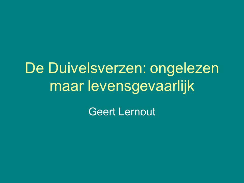 De Duivelsverzen: ongelezen maar levensgevaarlijk Geert Lernout