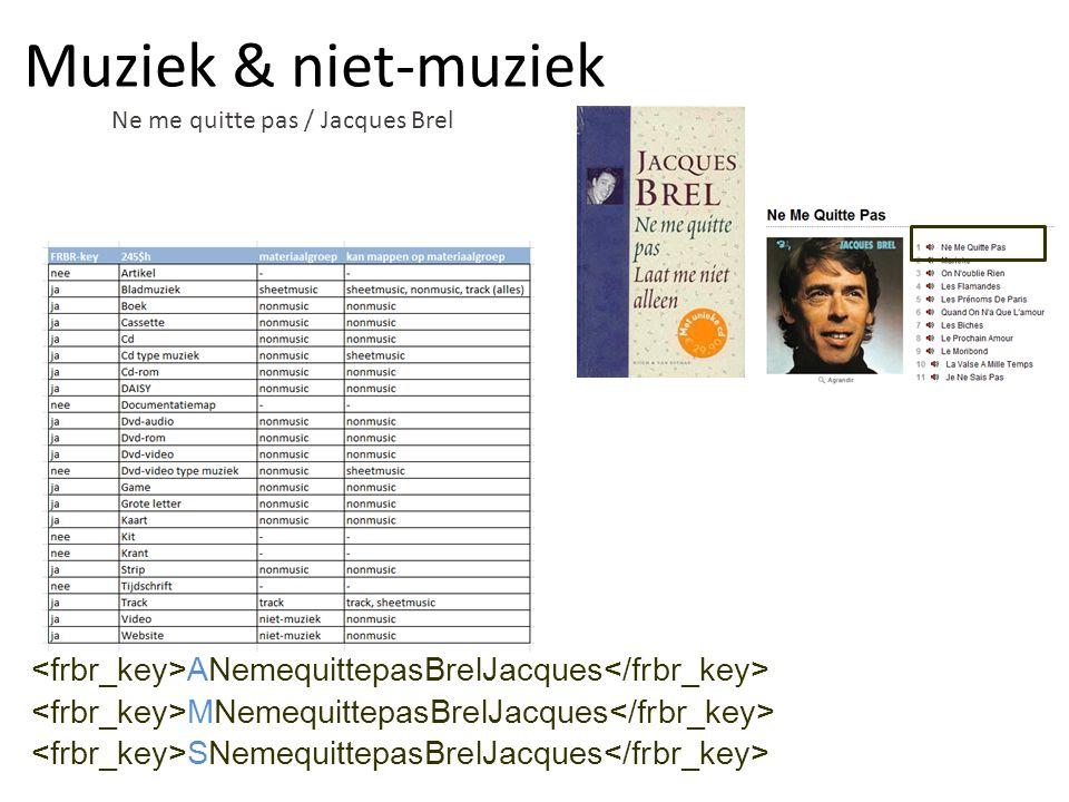 Ne me quitte pas / Jacques Brel ANemequittepasBrelJacques MNemequittepasBrelJacques SNemequittepasBrelJacques Muziek & niet-muziek