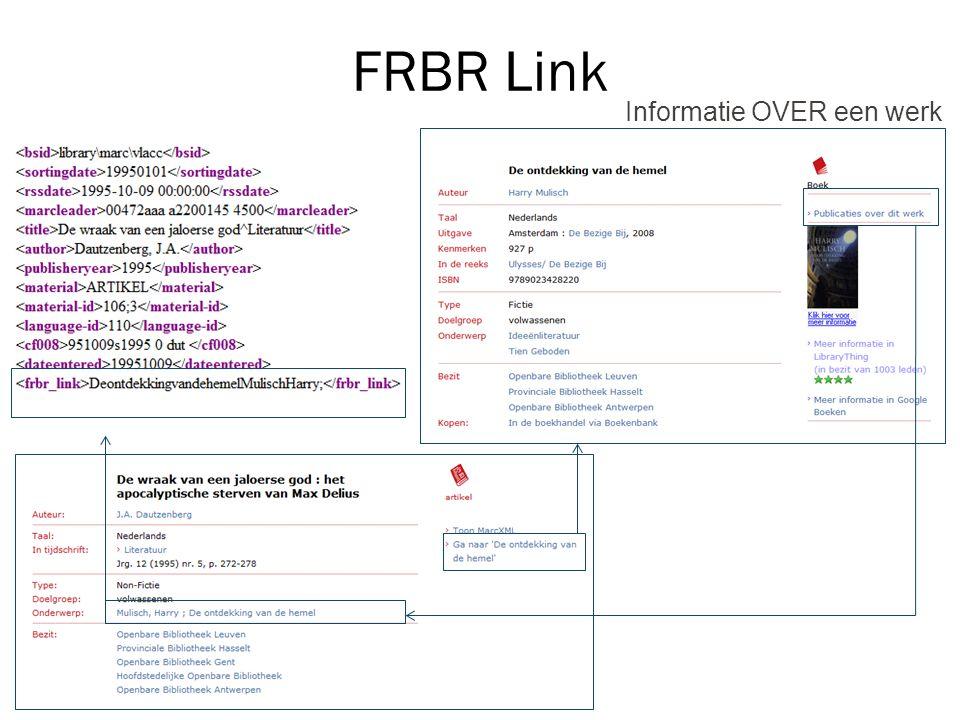 FRBR Link Informatie OVER een werk
