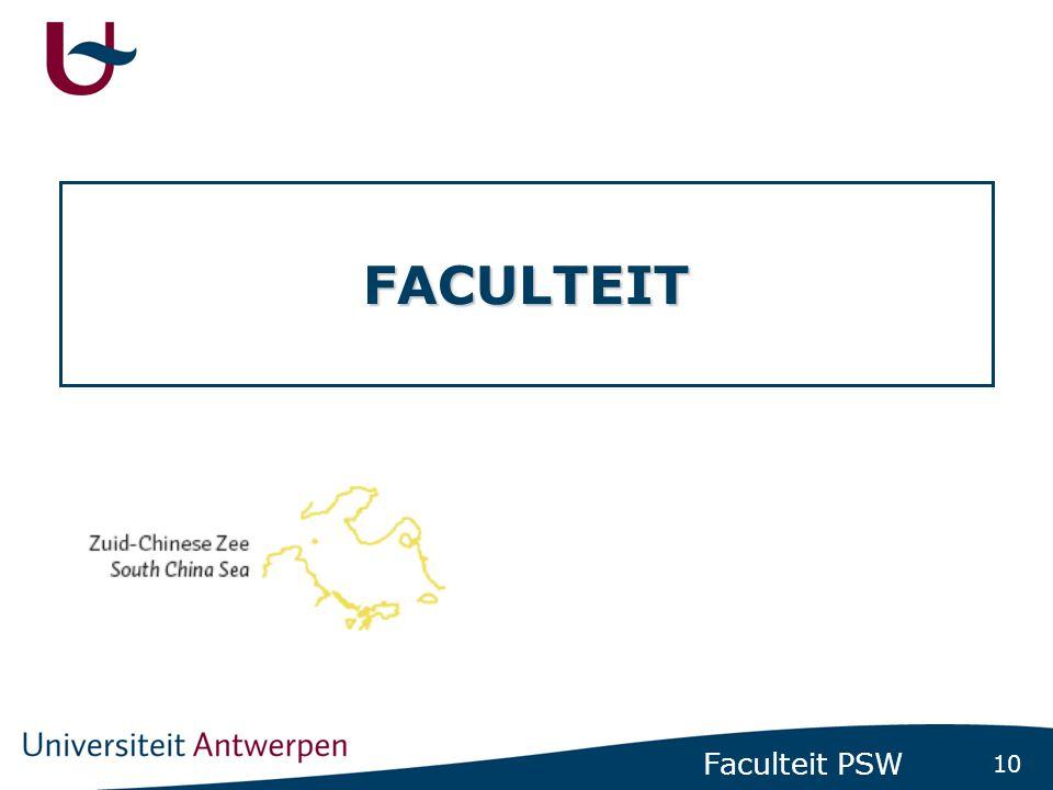 10 Faculteit PSW FACULTEIT