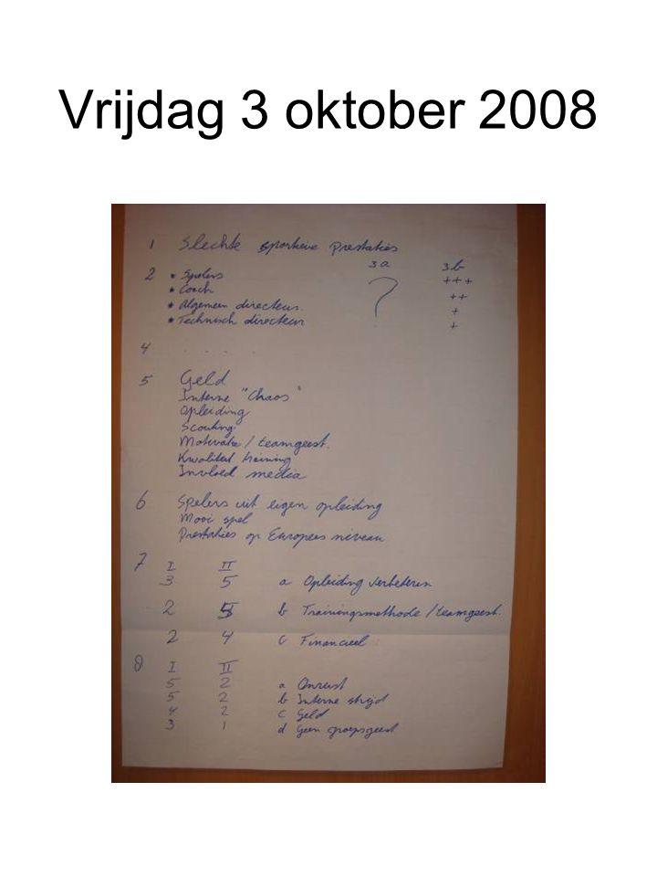 Vrijdag 3 oktober 2008