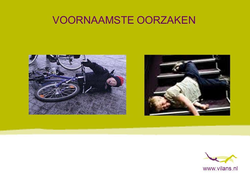 www.vilans.nl JONGE LEEFTIJD: SLECHTERE OUTCOME Twee groepen: 6-12 jaar 13-20 jaar (gematcht naar ernst van het letsel) Jongere groep had in jonge volwassenheid significant slechtere uitkomsten, op concentratie,informatieverwerking en sociale integratie (Donders & Warschausky 2007)
