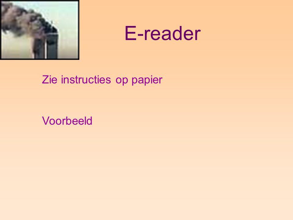 E-reader Zie instructies op papier Voorbeeld