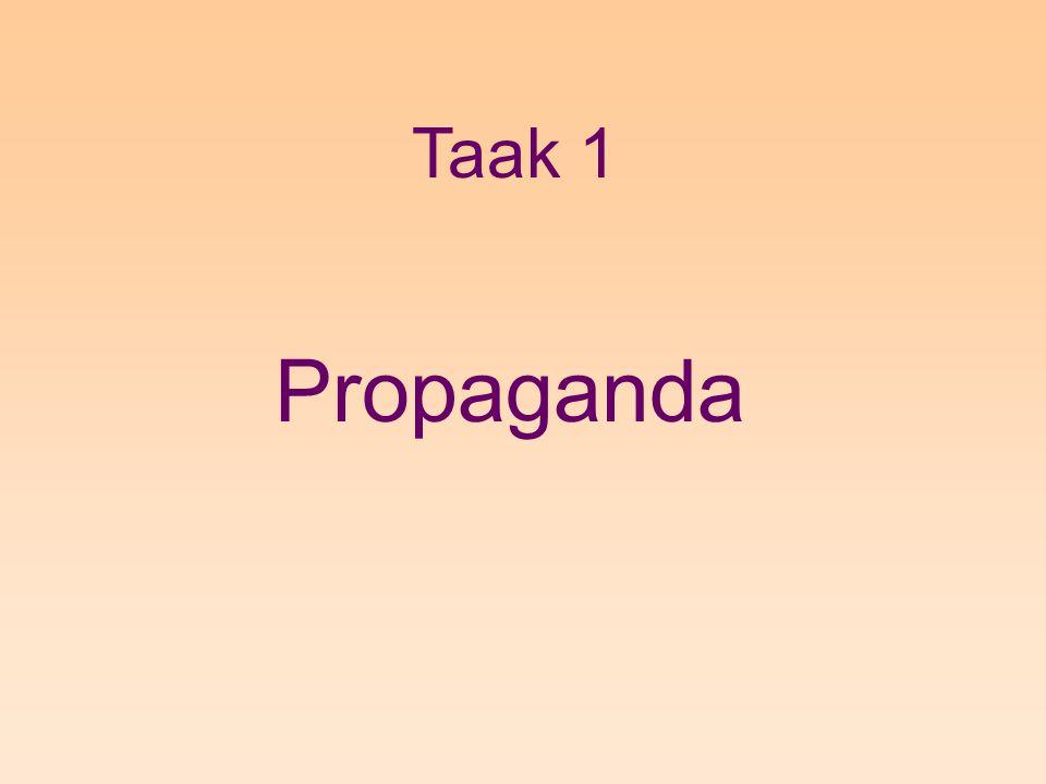 Taak 1 Propaganda