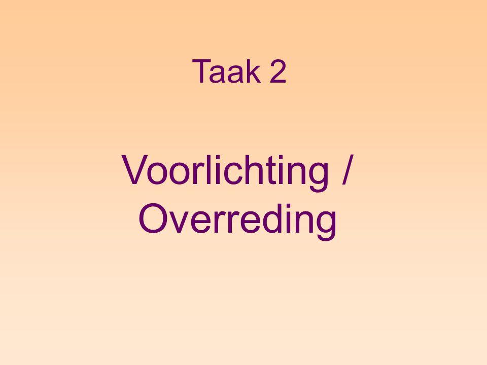 Taak 2 Voorlichting / Overreding