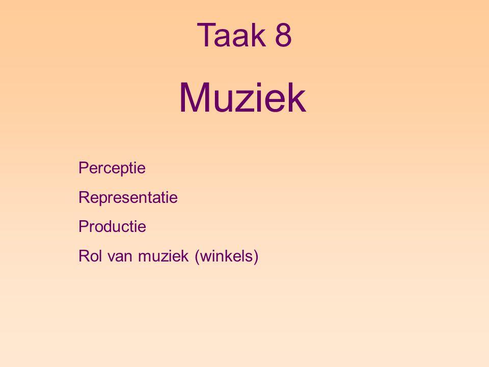 Taak 8 Muziek Perceptie Representatie Productie Rol van muziek (winkels)