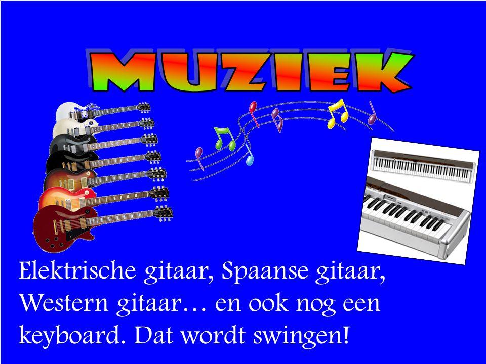 Elektrische gitaar, Spaanse gitaar, Western gitaar… en ook nog een keyboard. Dat wordt swingen!