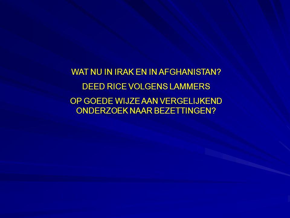 WAT NU IN IRAK EN IN AFGHANISTAN.