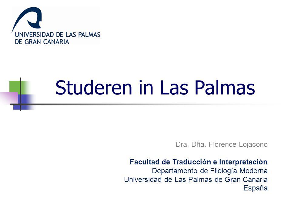 Studeren in Las Palmas Dra.Dña.