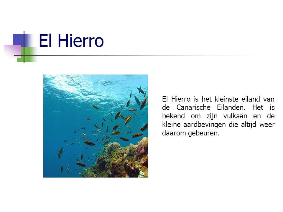 El Hierro El Hierro is het kleinste eiland van de Canarische Eilanden.