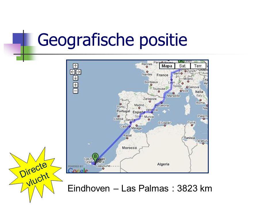 Geografische positie Eindhoven – Las Palmas : 3823 km Directe vlucht