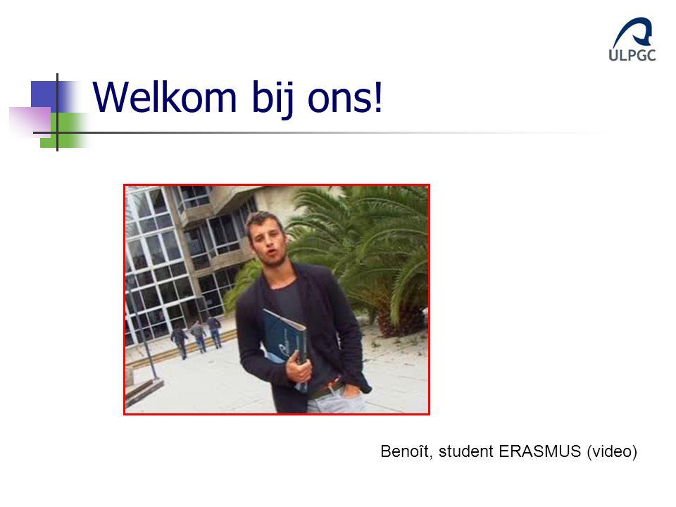 Welkom bij ons! Benoît, student ERASMUS (video)