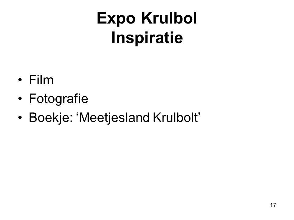 17 Expo Krulbol Inspiratie •Film •Fotografie •Boekje: 'Meetjesland Krulbolt'