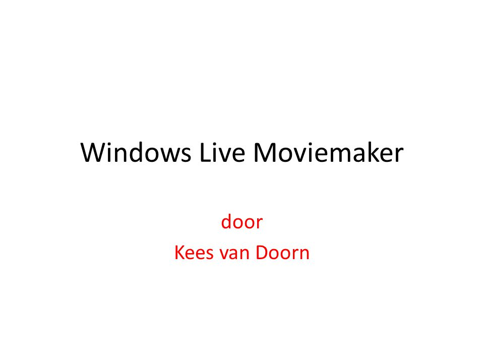 Windows moviemaker XP