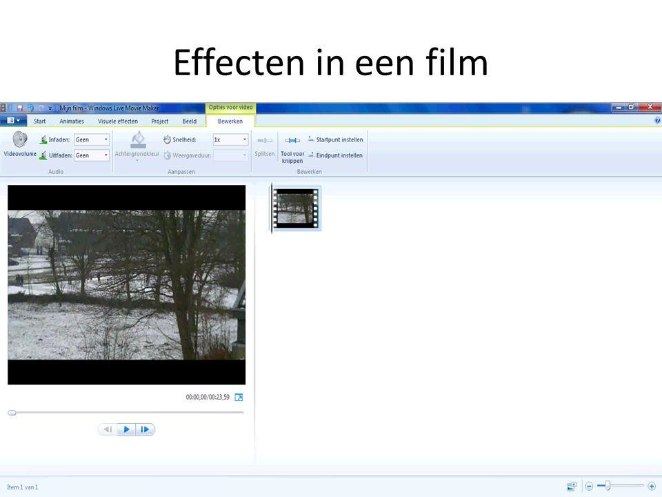 Effecten in een film