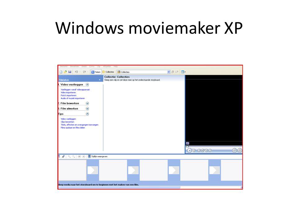 Windows moviemaker XP