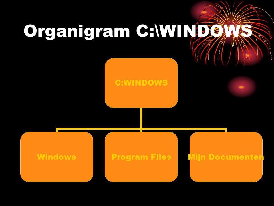 Organigram D:\BACKUP D:\Backup Mijn Backup Nieuwe map Mijn Downloads