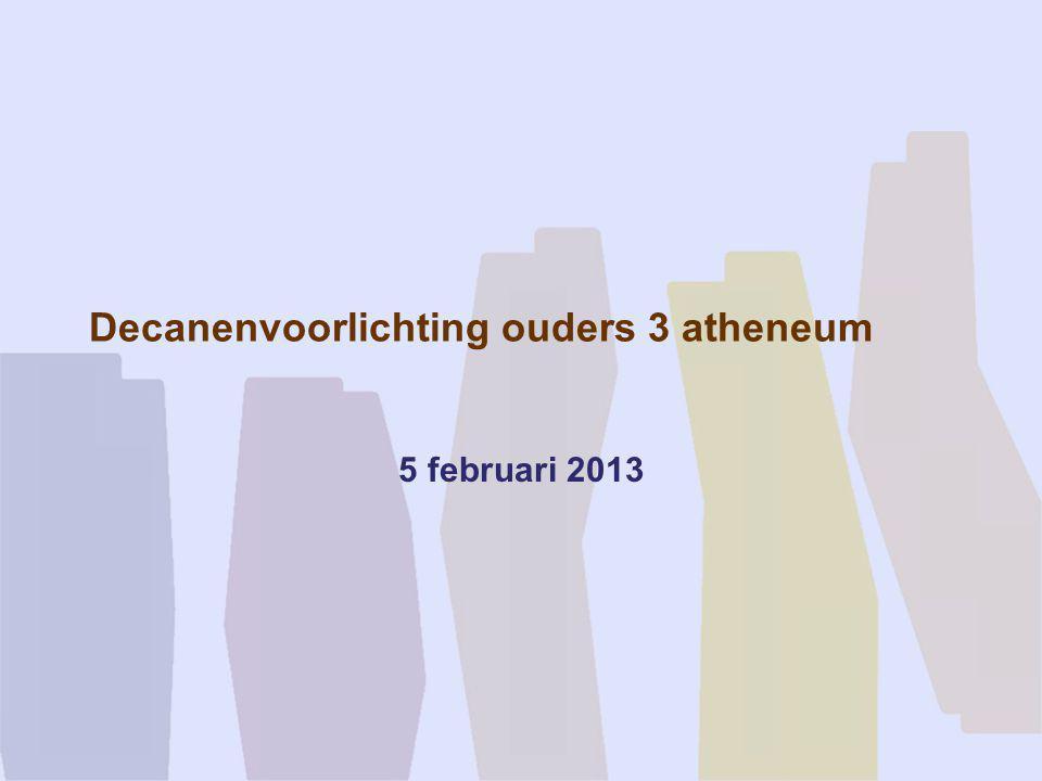Decanenvoorlichting ouders 3 atheneum 5 februari 2013
