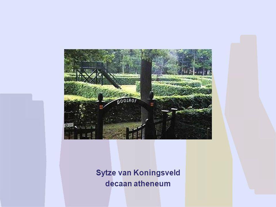 Sytze van Koningsveld decaan atheneum