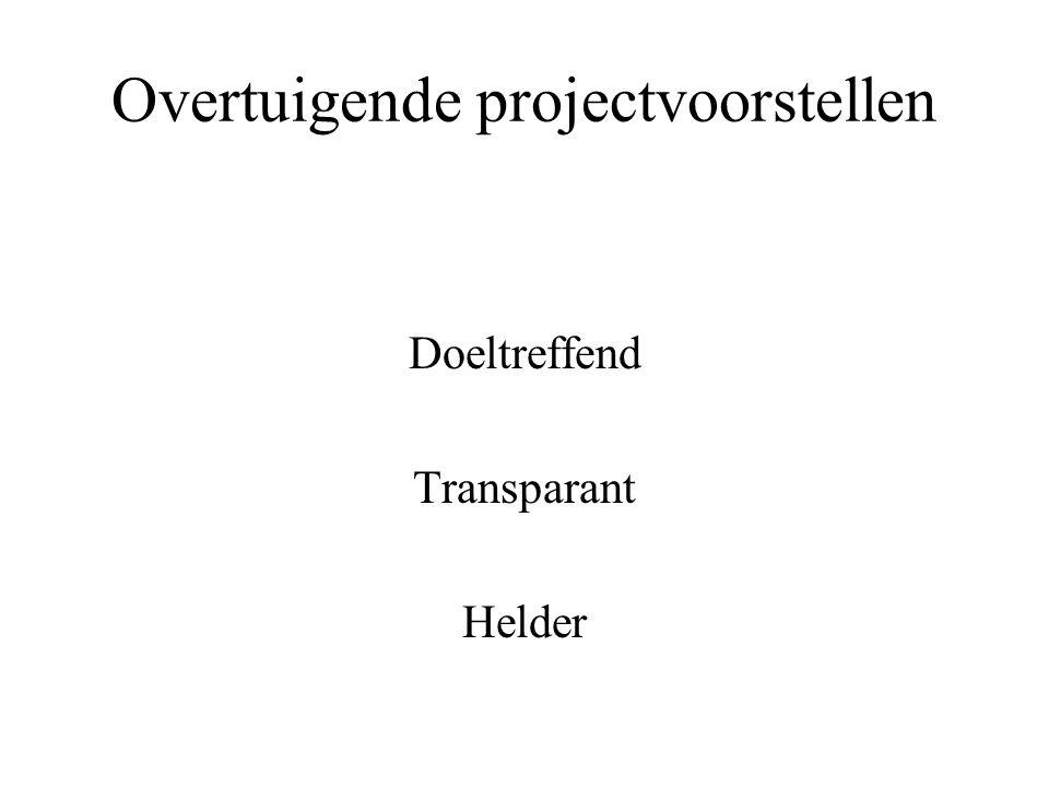 Overtuigende projectvoorstellen Doeltreffend Transparant Helder