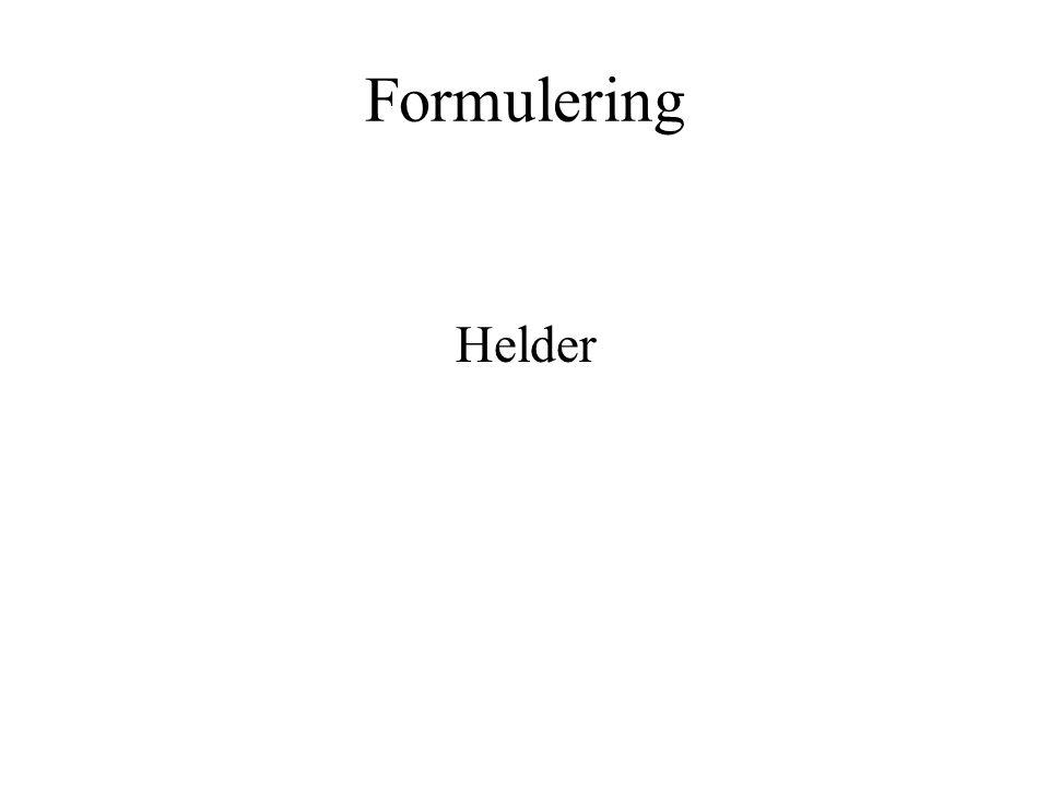 Formulering Helder