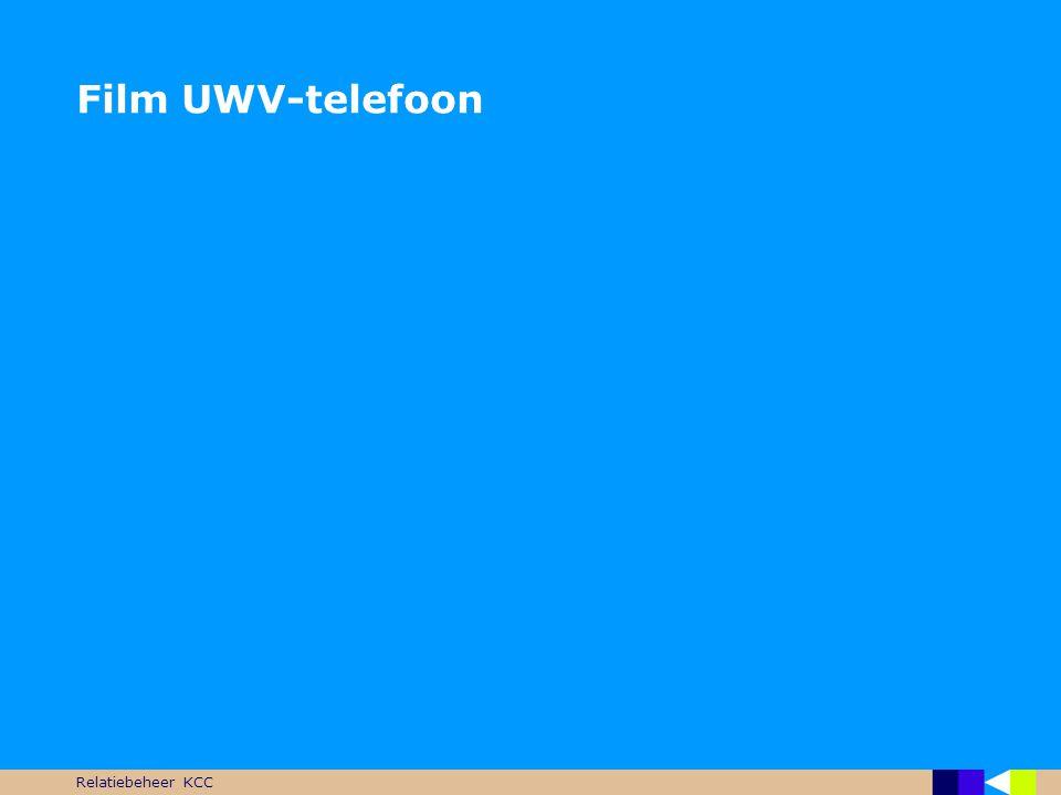 Relatiebeheer KCC UWV KCC  Één nummer voor alle vragen  0900-9294 (werknemers gerelateerd) -Goes, Groningen  0900-9295 (werkgevers gerelateerd) -Almere