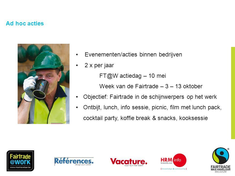 FairTradeGemeente Criterium 1: Gemeente •2008 Ondertekening van de resolutie •2009 Proefmoment van FairTrade koffie tijdens het Schepencollege en officieel startschot voor de aankoop van FairTrade koffie •Koffiemachines op het gemeentehuis
