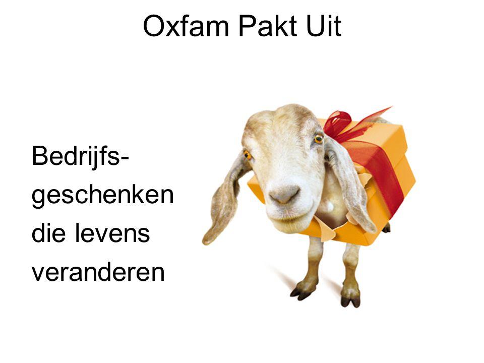 Oxfam Pakt Uit Bedrijfs- geschenken die levens veranderen