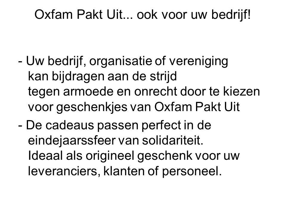 Oxfam Pakt Uit... ook voor uw bedrijf.