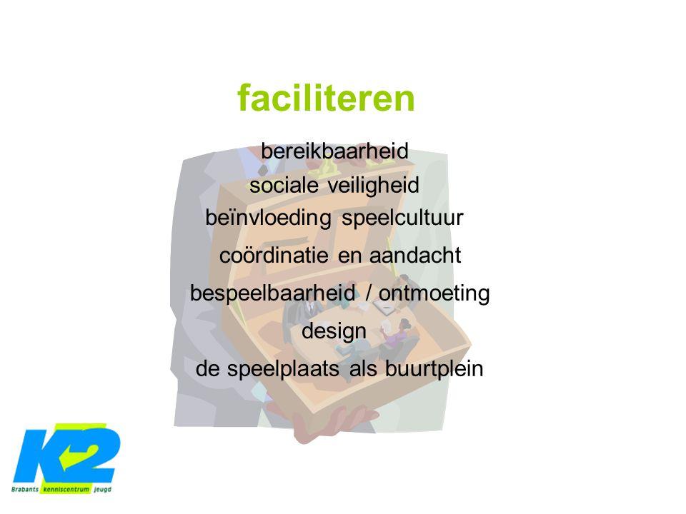 faciliteren bereikbaarheid sociale veiligheid beïnvloeding speelcultuur coördinatie en aandacht bespeelbaarheid / ontmoeting design de speelplaats als buurtplein