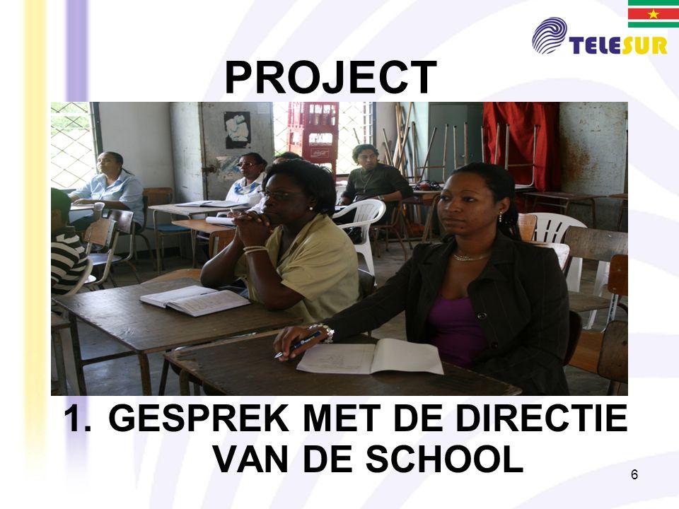 6 PROJECT 1.GESPREK MET DE DIRECTIE VAN DE SCHOOL