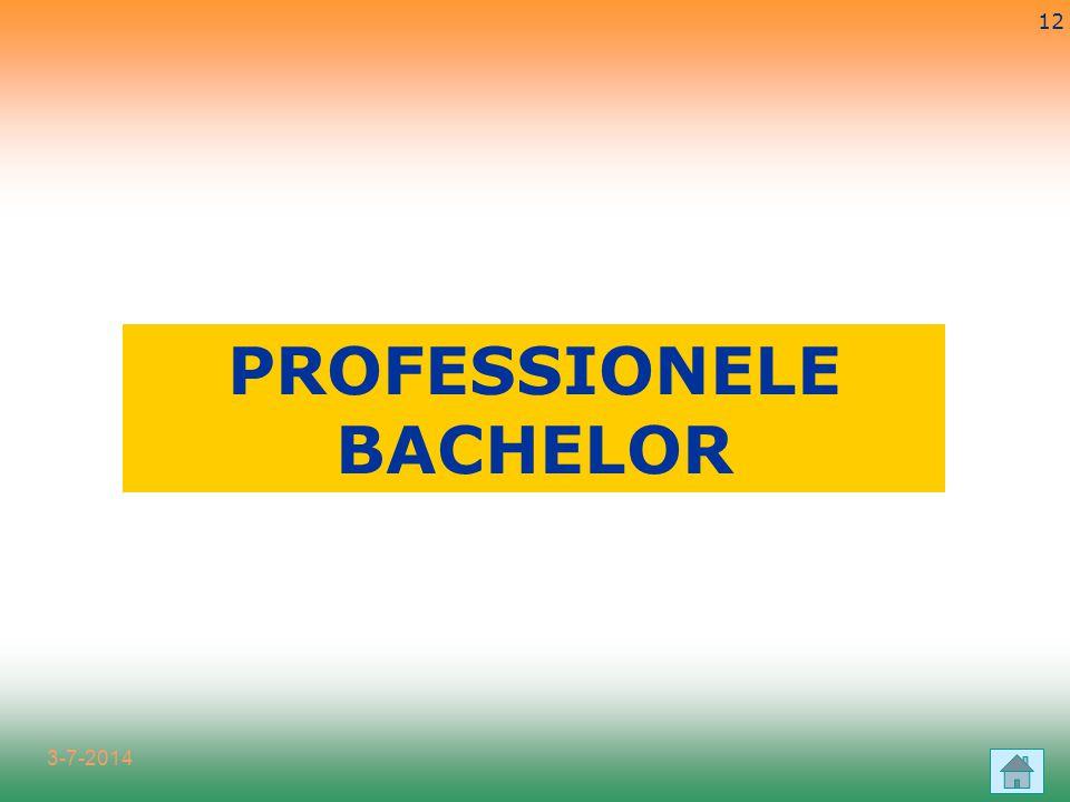 3-7-2014 12 PROFESSIONELE BACHELOR