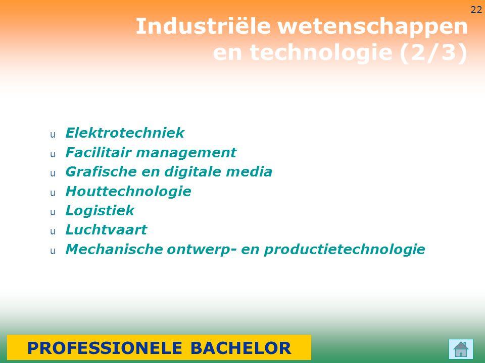 3-7-2014 22 u Elektrotechniek u Facilitair management u Grafische en digitale media u Houttechnologie u Logistiek u Luchtvaart u Mechanische ontwerp-