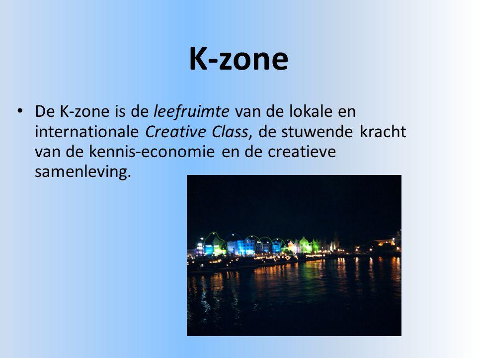 K-zone • De K-zone is de leefruimte van de lokale en internationale Creative Class, de stuwende kracht van de kennis-economie en de creatieve samenleving.