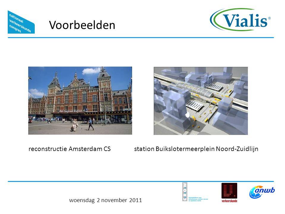 Voorbeelden woensdag 2 november 2011 station Buikslotermeerplein Noord-Zuidlijnreconstructie Amsterdam CS
